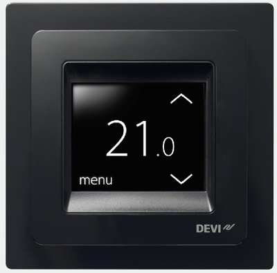 DEVIreg Touch Programmable Thermostat (Pure Black)