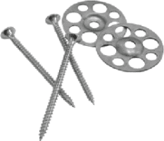 40mm Galvanised Washer & 25mm Screw (Pack of 50)