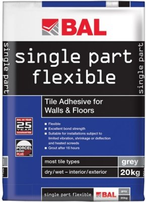 Bal Single Part Flexible Tile Adhesive Grey