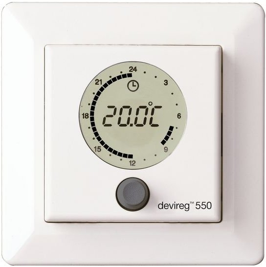 Devireg 550 Programmable Thermostat White