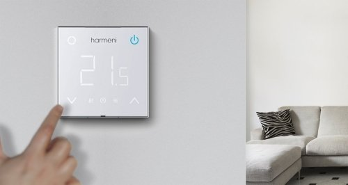 DEVImat 200w/m² DTIF-200 1.05m² 215w Underfloor Heating Kit + Harmoni HT100 Digital Thermostat
