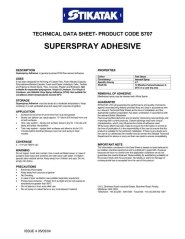 Superspray Adhesive Technical Data Sheet