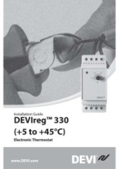 Installation Guide DEVIreg 330